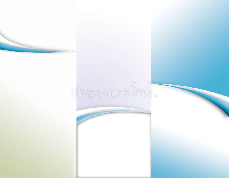 tri broschyrveckmall stock illustrationer
