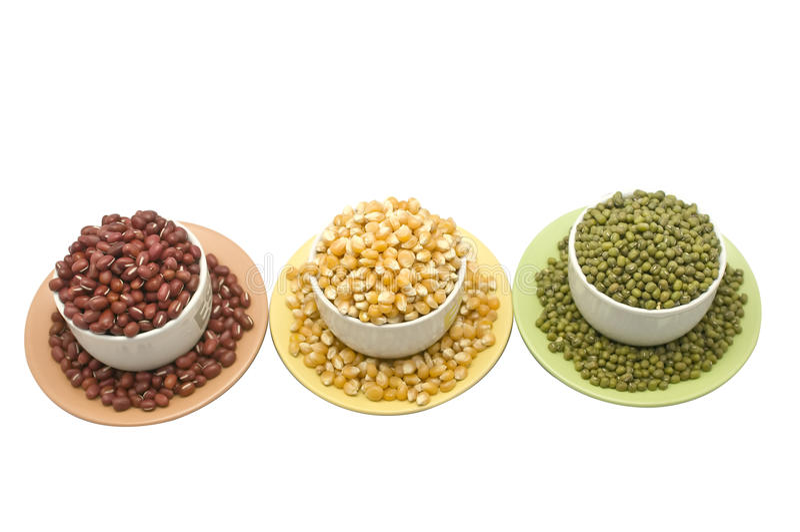 Tri-Color Beans stock images