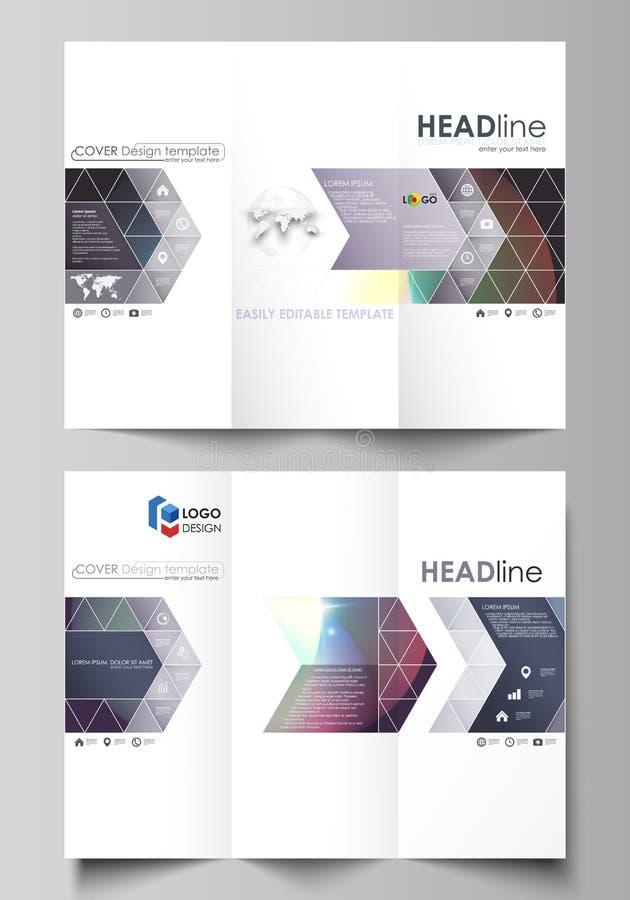 tri fold brochure business templates on both sides easy editable