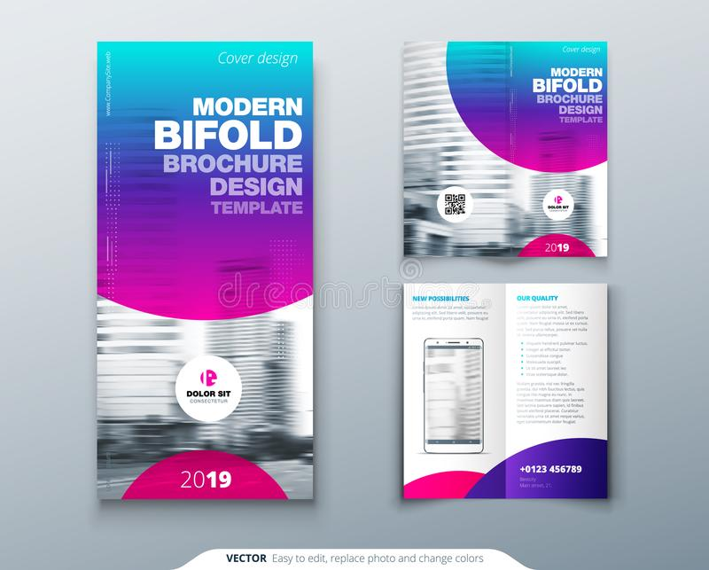 Download Tri Fold Brochure Design. Cool Business Template For Tri Fold  Flyer. Layout With