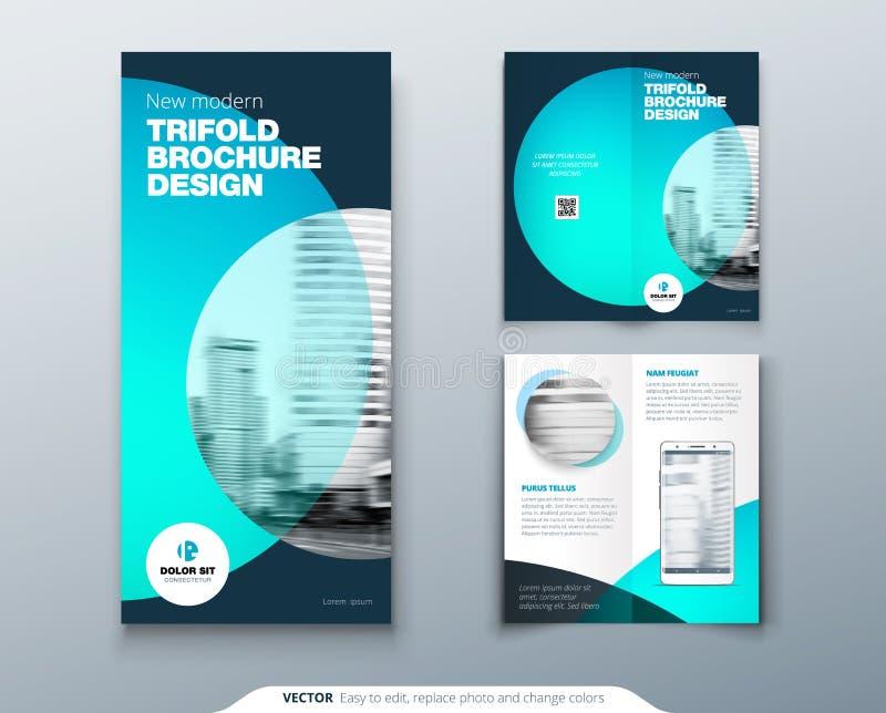 Tri Fold Brochure Design Teal Business Template For Tri Fold Flyer