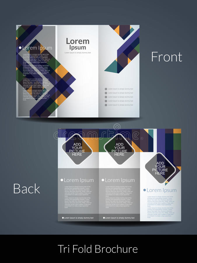 Tri Fold brochure design template. Presentation of elegant Tri Fold brochure design template. vector illustration royalty free illustration