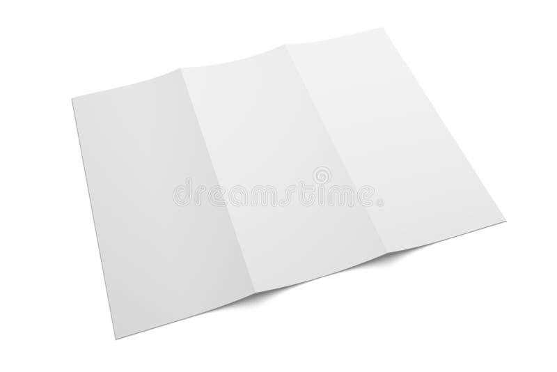 tri fold brochure 3d illustration mockup isolated on white no 5