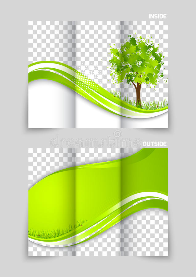 Tri Fold Brochure Template Design Stock Vector Illustration Of