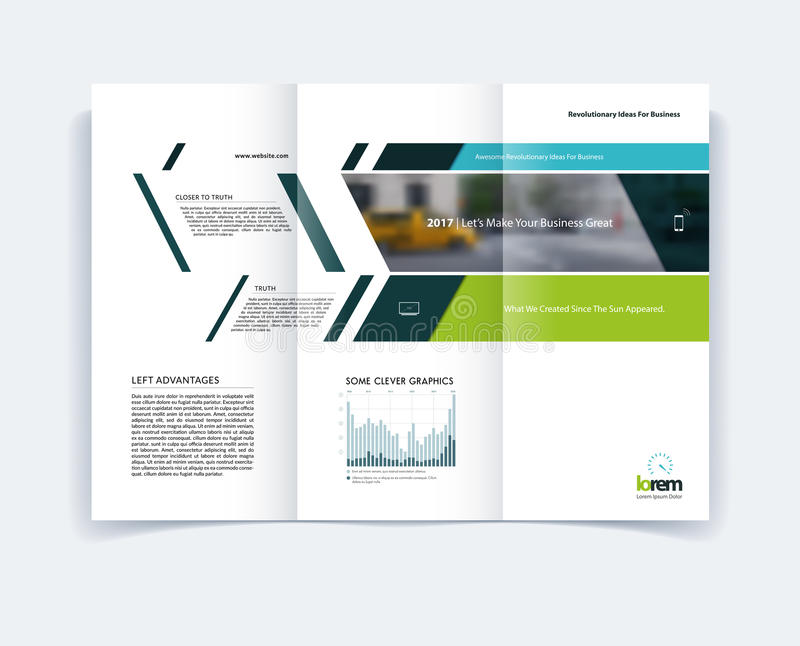 Tri Fold Brochure Template Layout Cover Design Flyer In A4 Wit