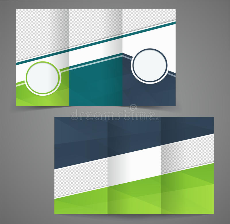 Tri Fold Business Brochure Template Two Sided Template Design Stock