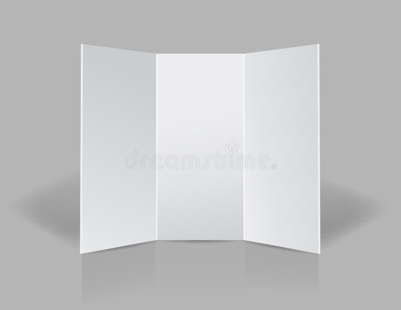 Tri fold presentation blank leaflet royalty free illustration
