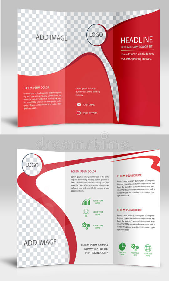 Tri fold Red stock images