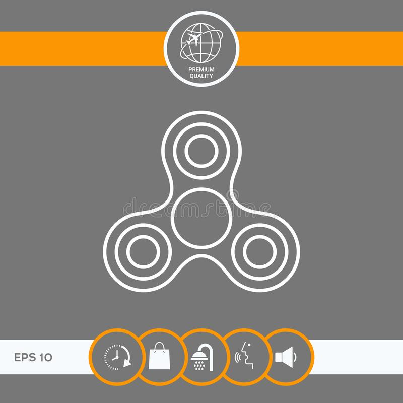 Tri kądziołek ikona ilustracji