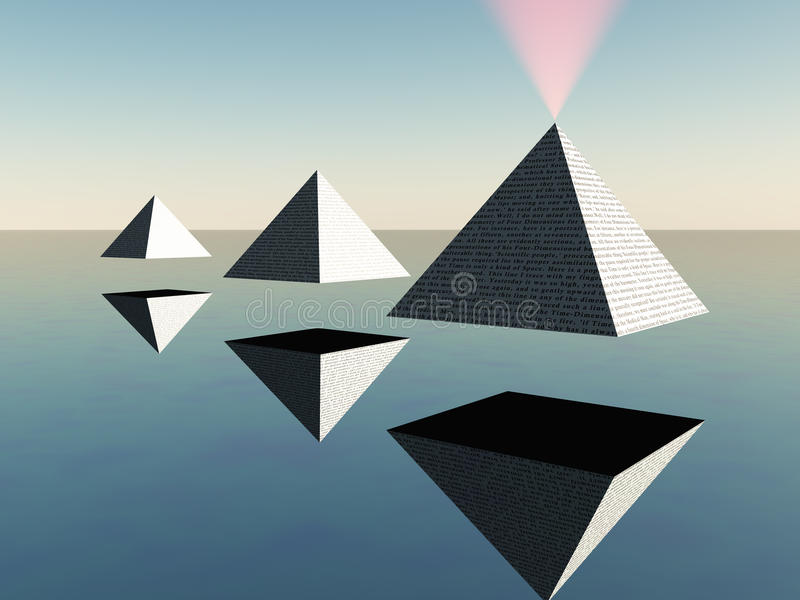 Triade de pyramides de flottement illustration de vecteur