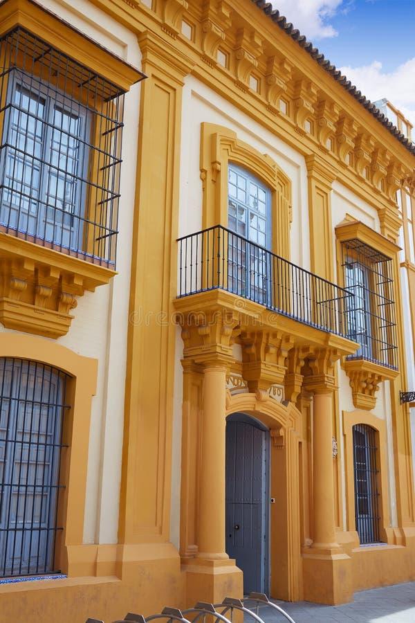 Triana barrio of Seville facades Andalusia Spain. Triana barrio of Seville facades Andalusia Sevilla Spain stock photos