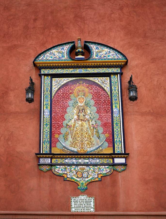 Triana-Barrio von Sevilla-Fassaden Andalusien Spanien stockbilder
