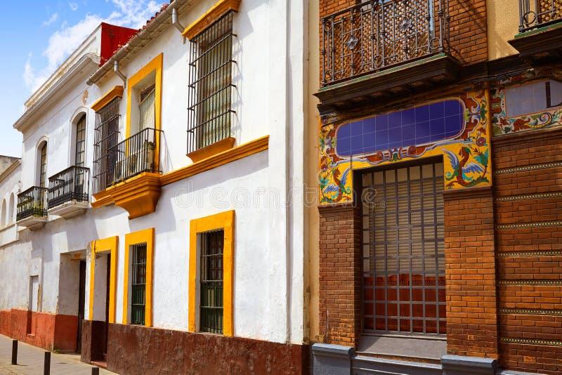 Triana-Barrio von Sevilla-Fassaden Andalusien Spanien lizenzfreies stockfoto