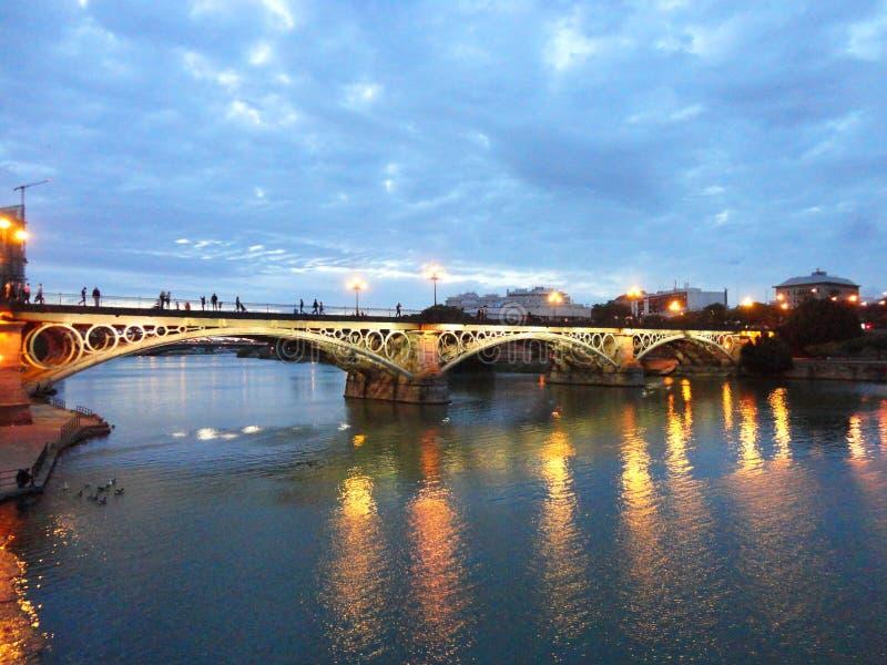 Triana Bridge, Sevilla royalty free stock photography
