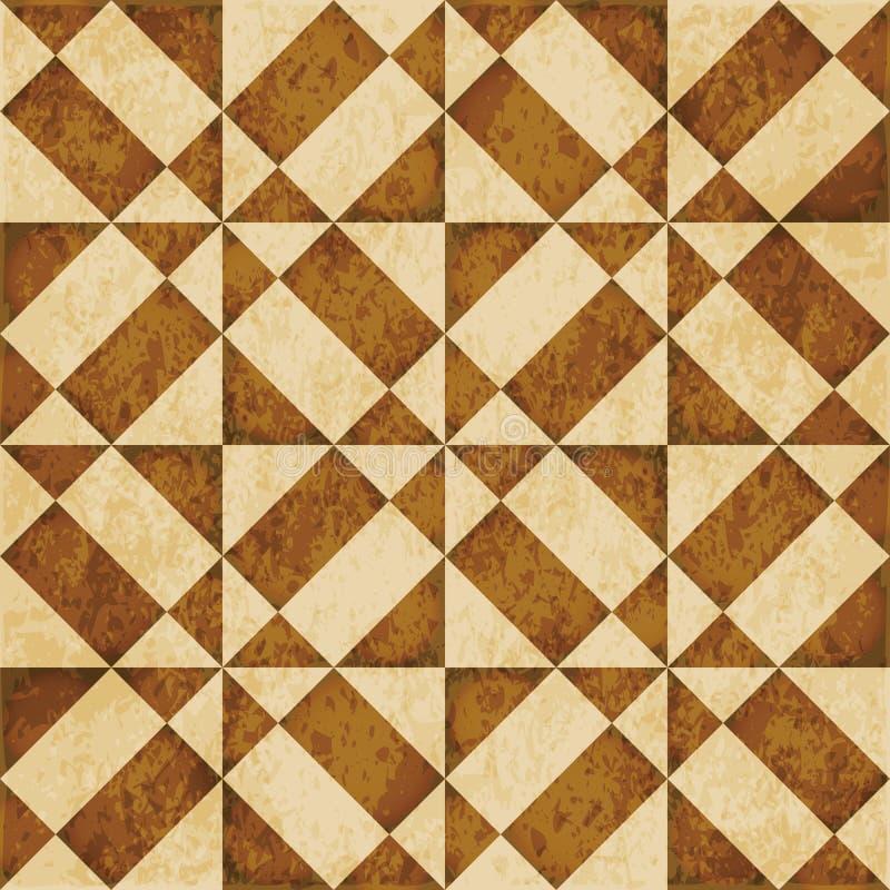 Triang предпосылки ретро коричневого grunge текстуры акварели безшовное иллюстрация штока