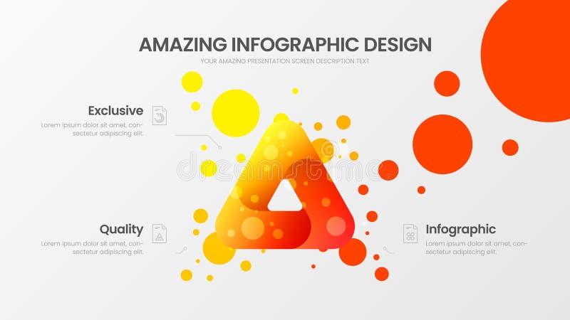 triangel för 3 alternativ som marknadsför mallen för analyticsvektorillustration Affärsdatadesign Infographic organisk statistik  royaltyfri illustrationer