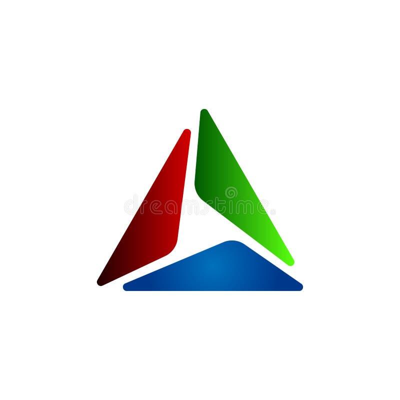 Triangel Logo Design fotografering för bildbyråer