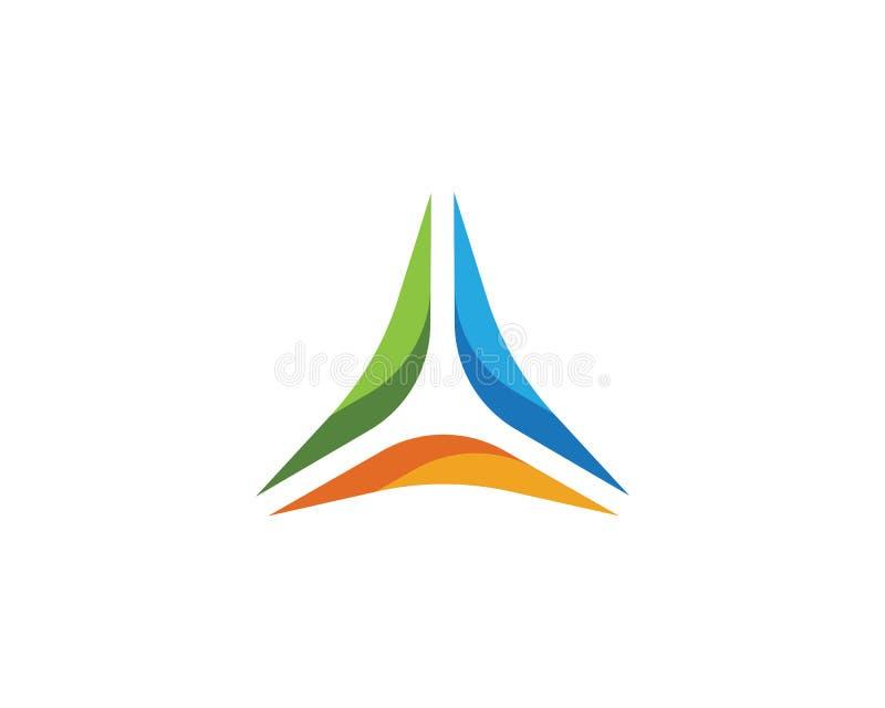 Triangel Logo Template vektor illustrationer
