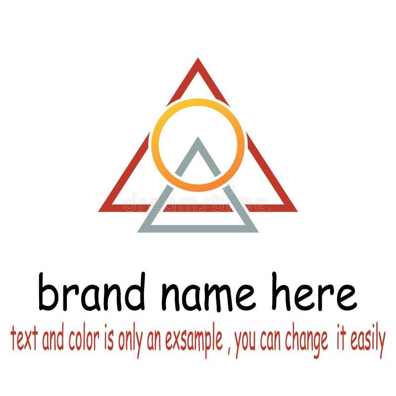 Triangel round logo vector royalty free illustration