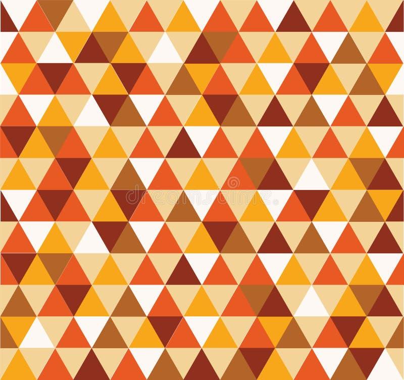 Triangelbakgrundsapelsin och brunt stock illustrationer