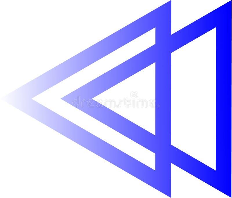 Triangellogoen är parallell royaltyfri bild