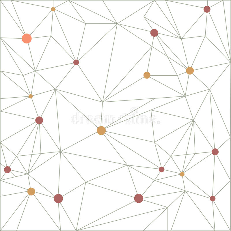 Triangelmodellbakgrund i linje Färgrika mosaikbaner stock illustrationer