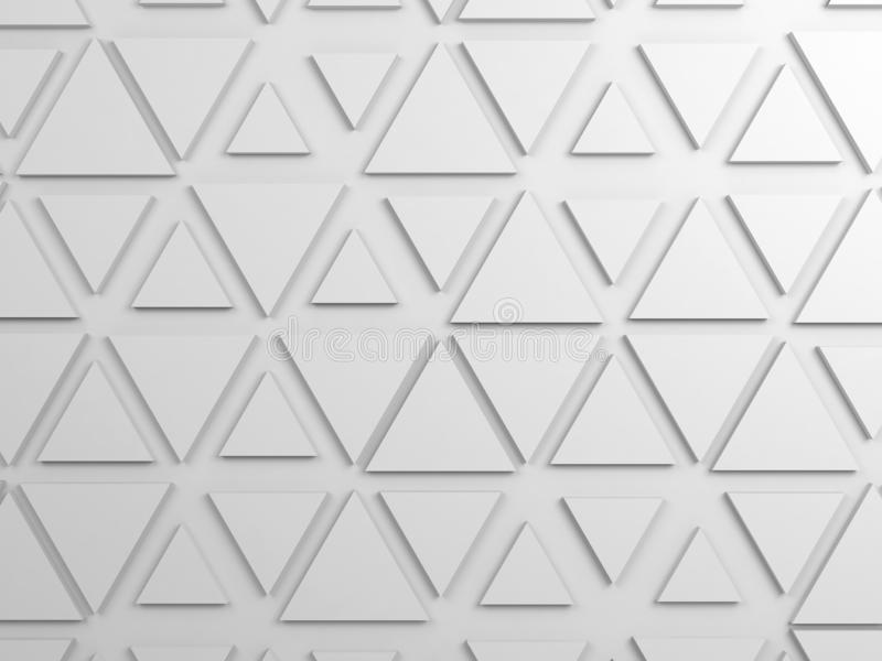 Triangelmodellen, 3d framför illustrationen arkivbild