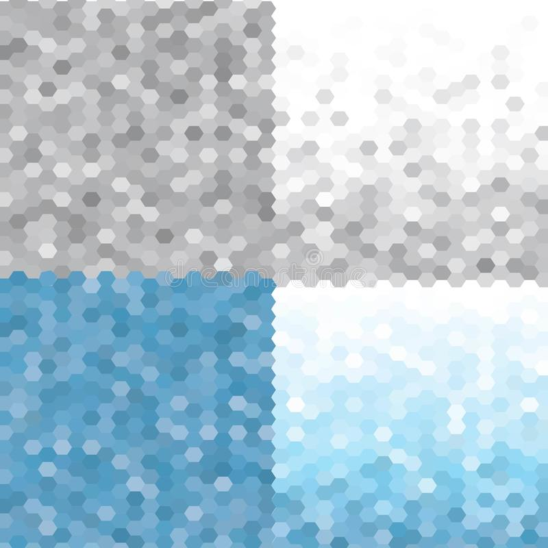 Triangelmodellupps?ttning Frosty Morning S?ml?sa geometriska bakgrunder f?r vektor 10 eps stock illustrationer