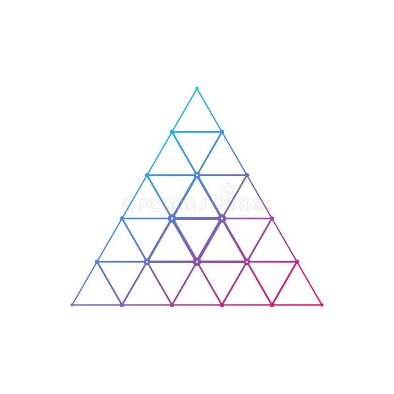 Triangeln förbinder logodesign royaltyfri foto
