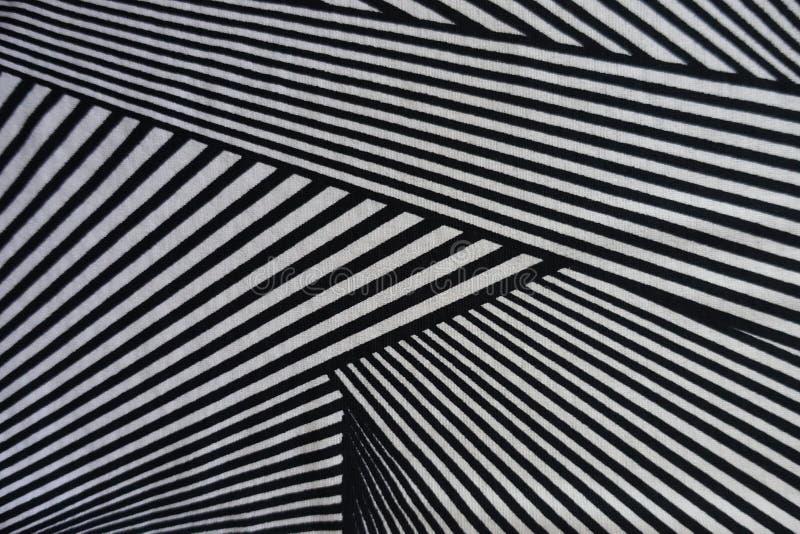 Triangeltryck på polyestertyg royaltyfri foto