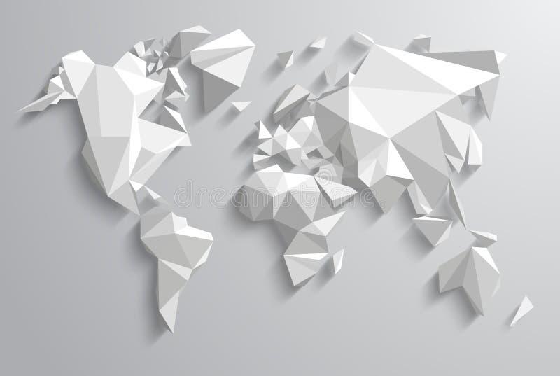 Triangelvärld vektor illustrationer