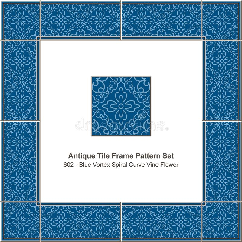 Triangl rouge réglé de la géométrie d'étoile de polygone de tuile de modèle antique de cadre illustration libre de droits