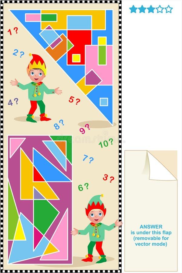 trianglar för rektanglar för räkningsmathpussel vektor illustrationer