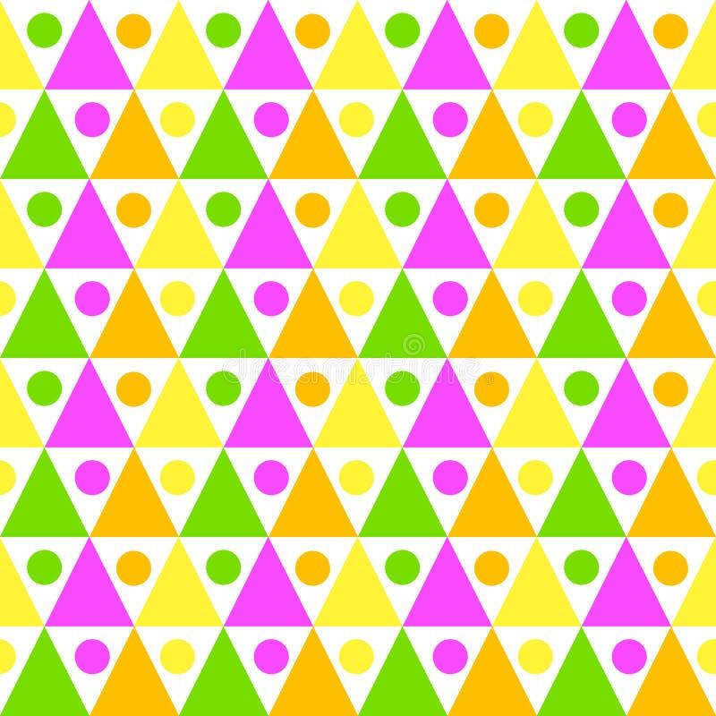 Trianglar och sömlös textur för bollar stock illustrationer