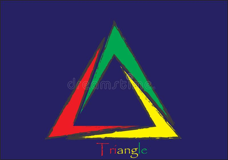 Triangle Red Green Yellow Color stock images in HD stock images