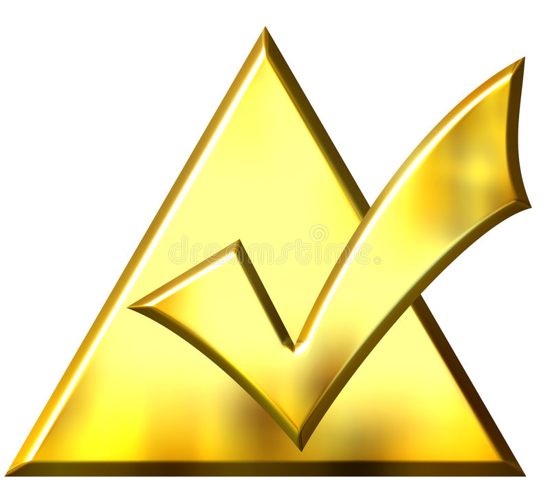 triangle 3d faite tic tac d'or illustration libre de droits