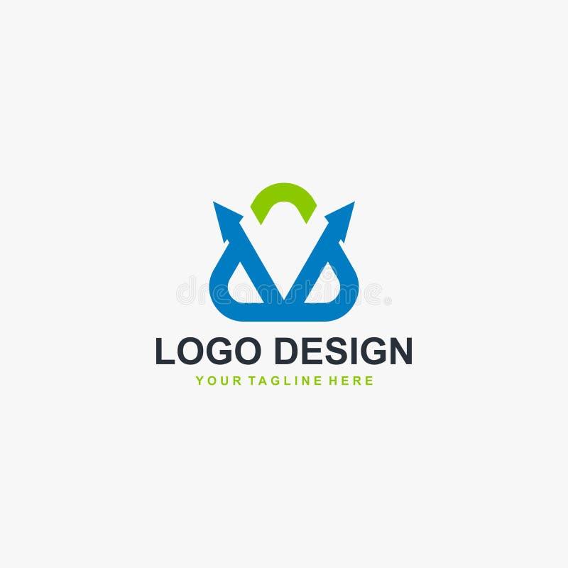 Triangle arrow logo design vector. Abstract logo concept for business. vector illustration