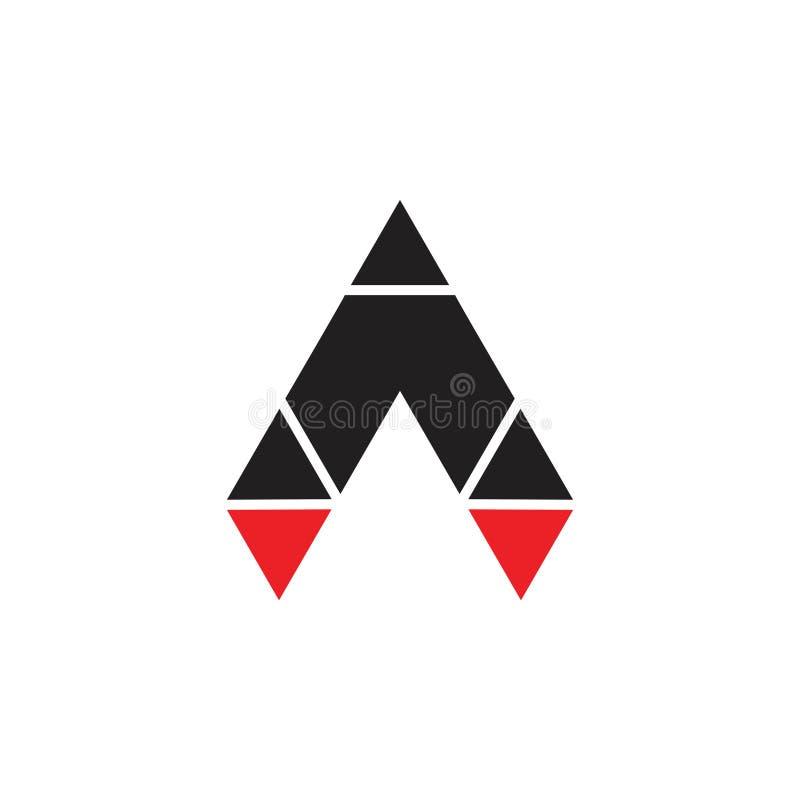 Triangle arrow mosaic rocket logo vector stock illustration