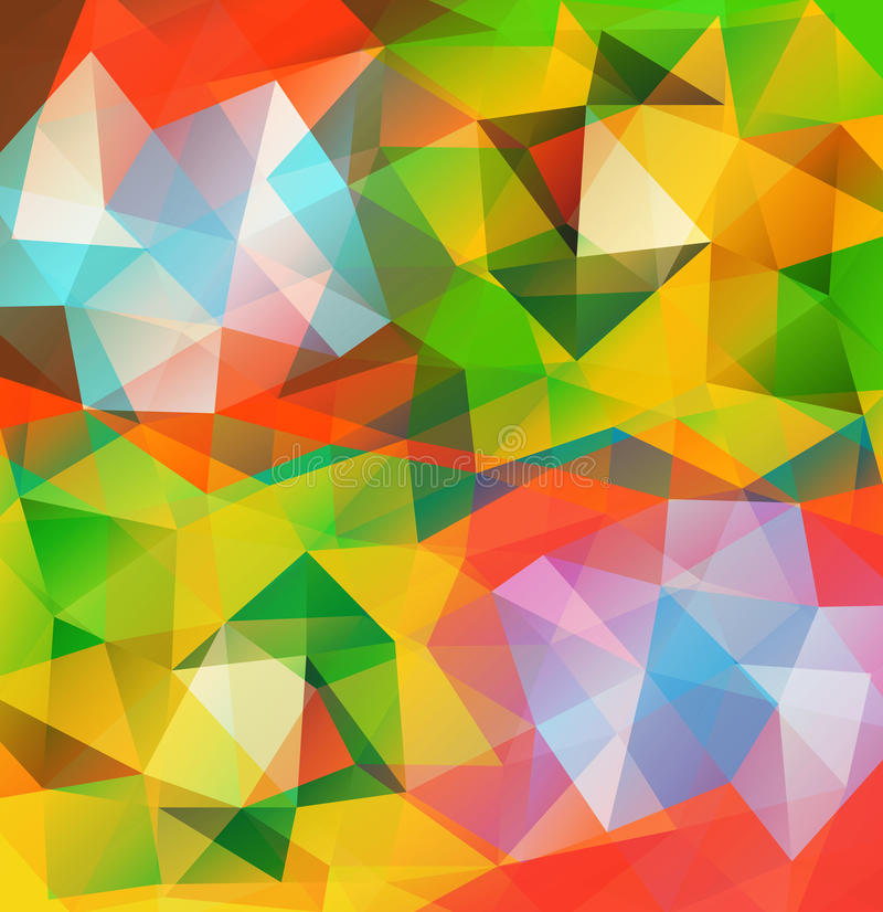 Triangle background. Pattern of geometric shapes. Multicolor mosaic banner with place for your text vector illustration