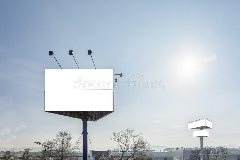 Triangle billboard royalty free stock images