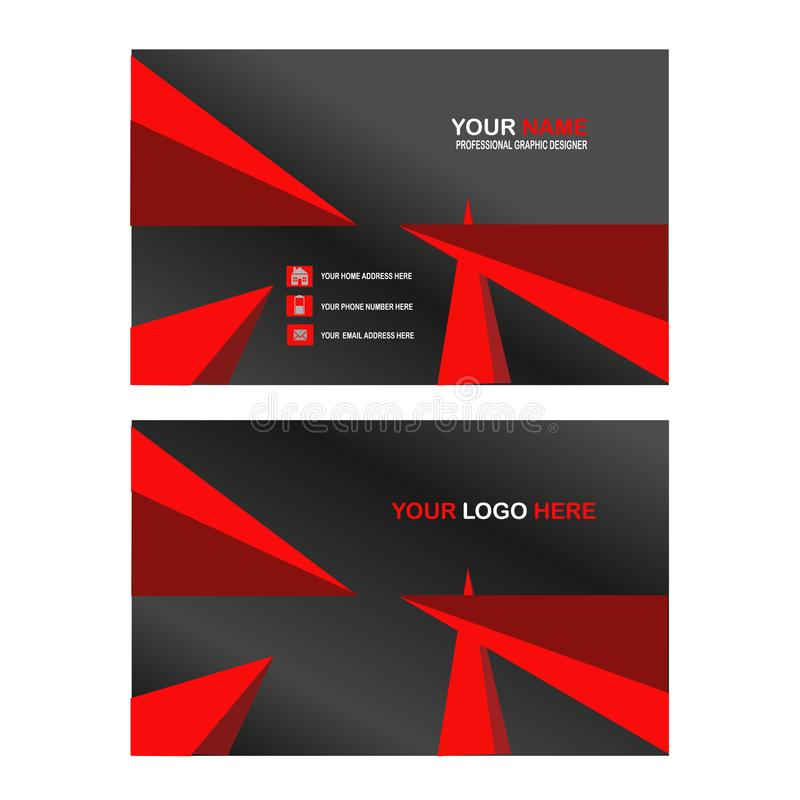 Triangle business card design royalty free illustration