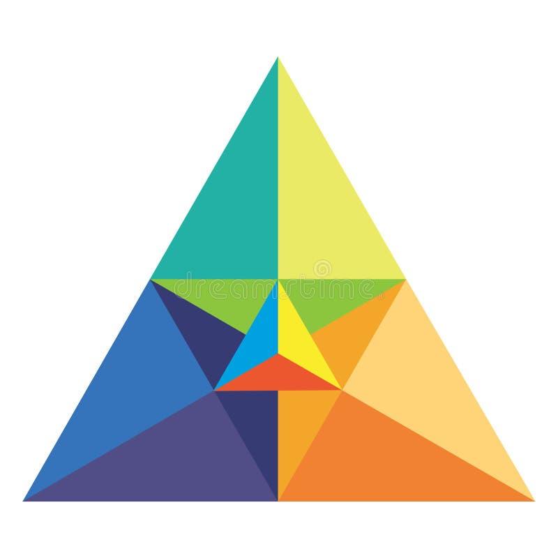 triangle chromatique illustration libre de droits