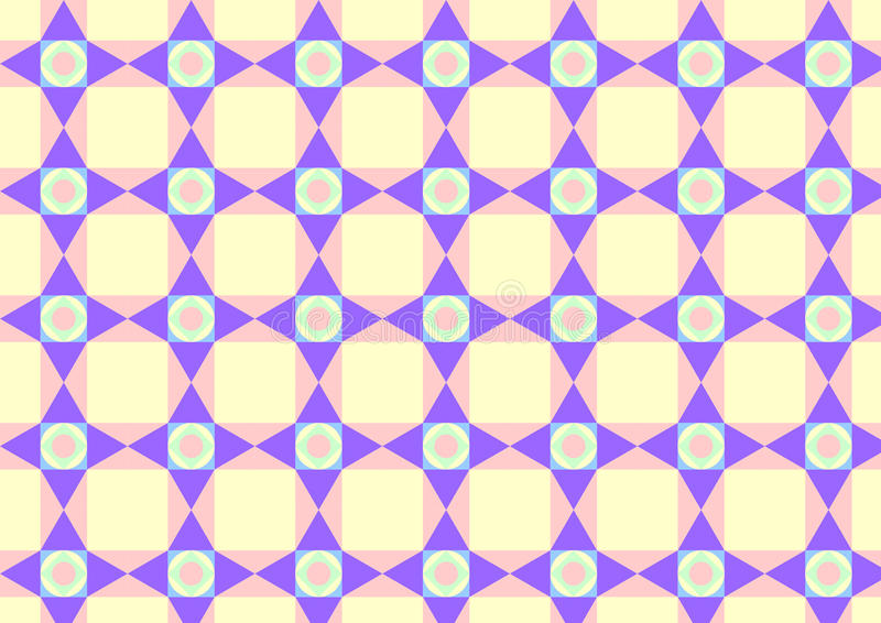 Download Triangle Circle And Quadrate Pattern On Pastel Color Royalty Free Stock Photography - Image: 37635807