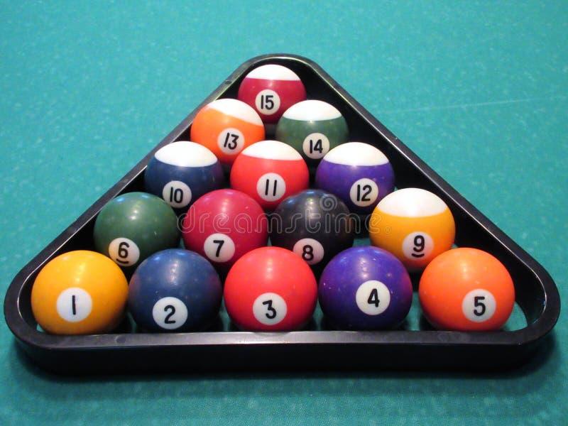 Triangle de boules de billard photo libre de droits