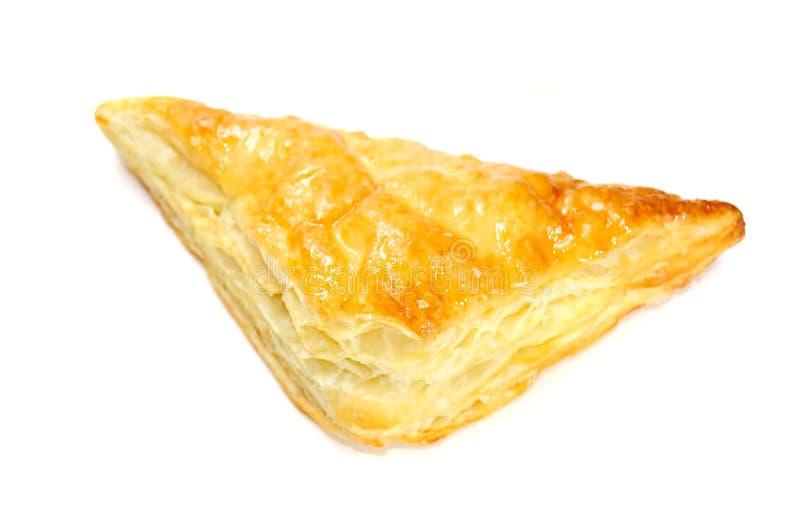 Triangle de pâte feuilletée d'isolement sur le blanc photo stock