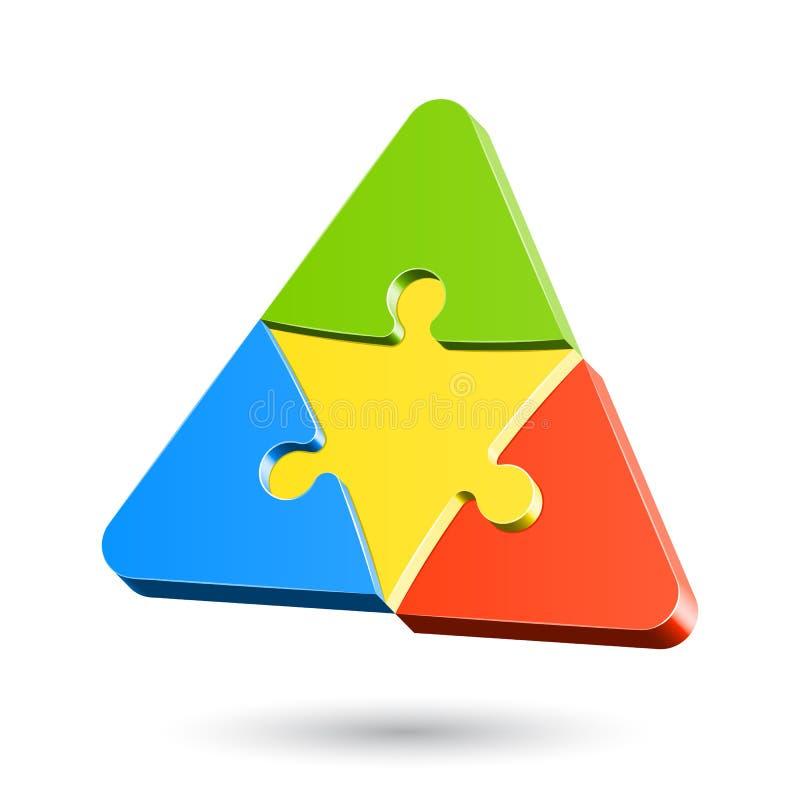 Triangle de puzzle illustration de vecteur