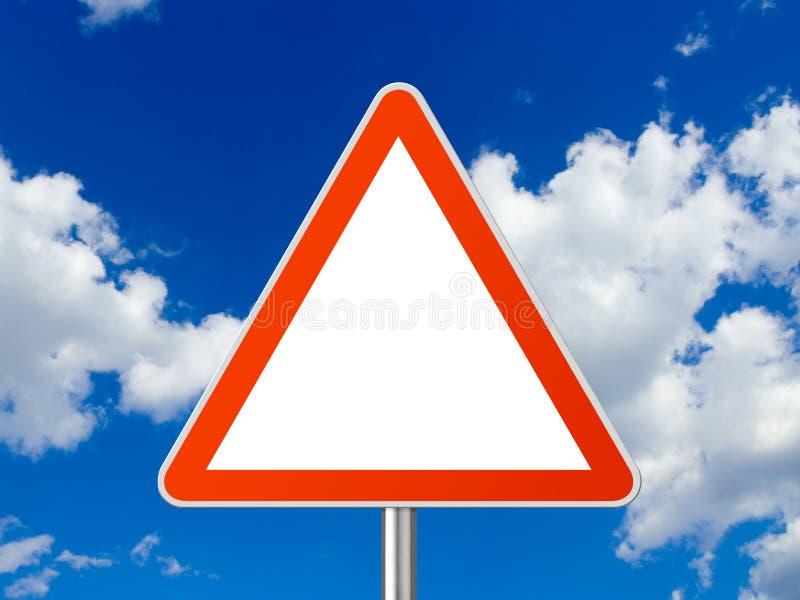 triangle de signe photographie stock libre de droits