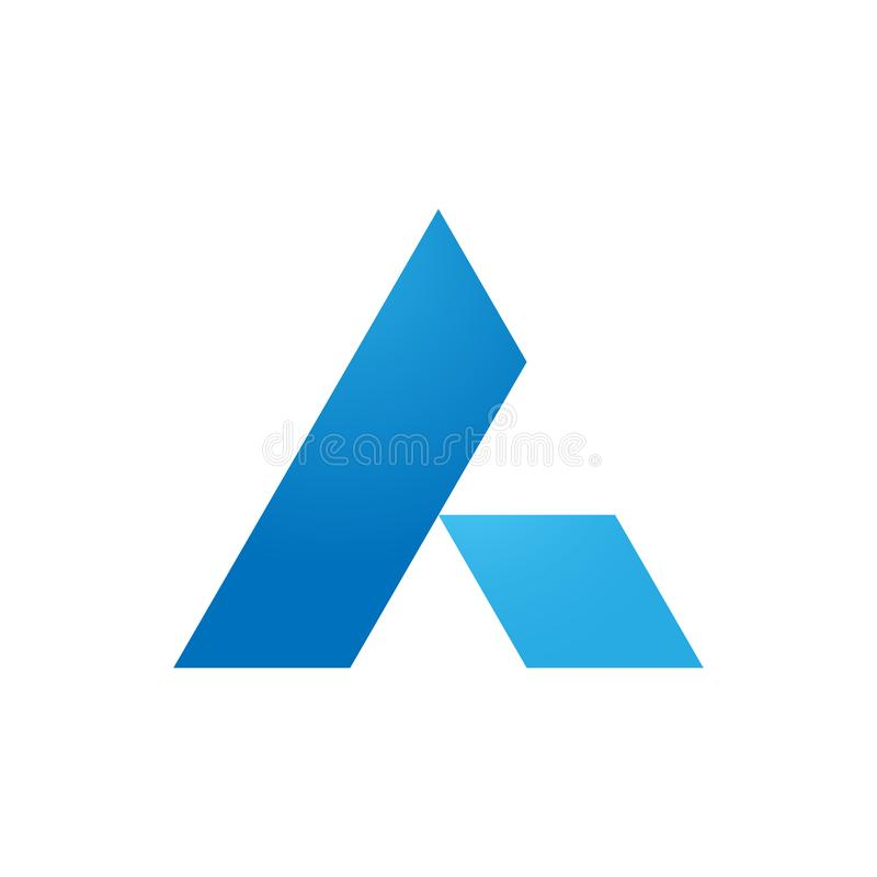 Triangle diamond logo design royalty free illustration
