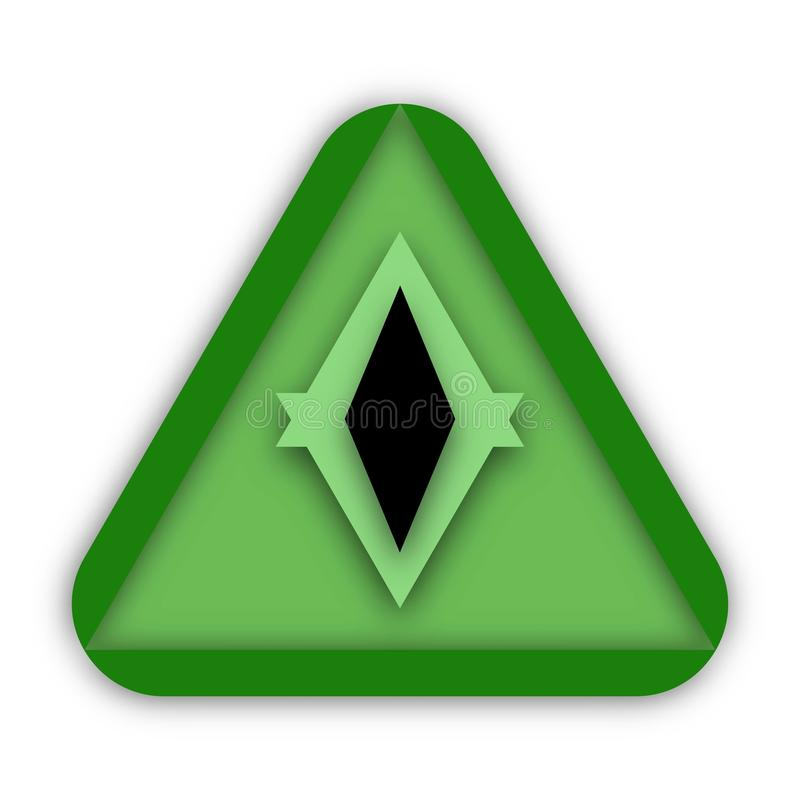 Triangle et oeil verts Logo Concept Design illustration stock