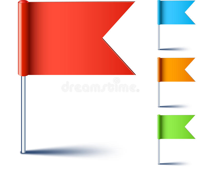 Download Triangle flags. stock vector. Image of illustration, blue - 25833303
